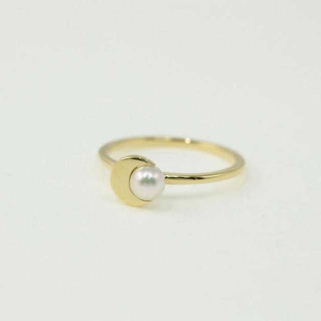AHKAH(アーカー)のアーカー クレセントパール 真珠(パール) リング・指輪/RF1 レディースのアクセサリー(リング(指輪))の商品写真