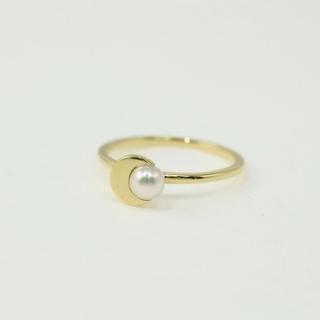AHKAH - アーカー クレセントパール 真珠(パール) リング・指輪