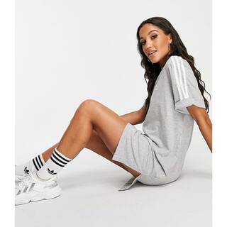adidas - 【新品タグ付】国内未発売 アディダス Tシャツ ワンピース グレー