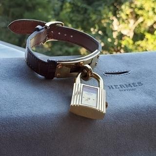Hermes - エルメス ケリーウォッチ 腕時計 クロコ ○W刻印