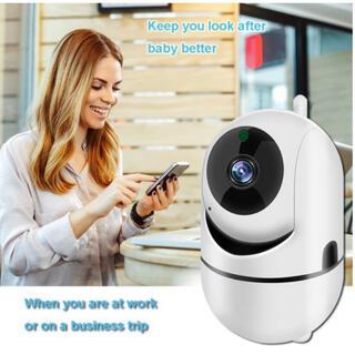 ネットワークカメラ ペット子供見守り屋内ワイヤレス 1080p 新品 ホワイト(防犯カメラ)