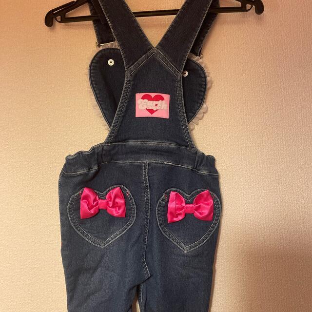 EARTHMAGIC(アースマジック)のサロペット マフィーちゃん 130 キッズ/ベビー/マタニティのキッズ服女の子用(90cm~)(パンツ/スパッツ)の商品写真