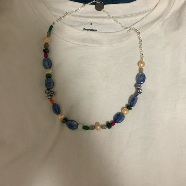 Jieda(ジエダ)のJieda 2021aw mix stone necklace ネックレス メンズのアクセサリー(ネックレス)の商品写真