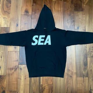 SEA - WIND AND SEA (ウィンダンシー) パーカー ブラック Mサイズ