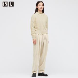 UNIQLO - UNIQLO U スウェットギャザーパンツ ナチュラル Mサイズ