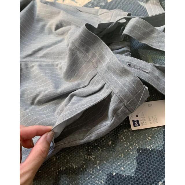 GU(ジーユー)の新品◆GU 2wayストライプサスペンダーパンツ サロペット 110 キッズ/ベビー/マタニティのキッズ服女の子用(90cm~)(パンツ/スパッツ)の商品写真