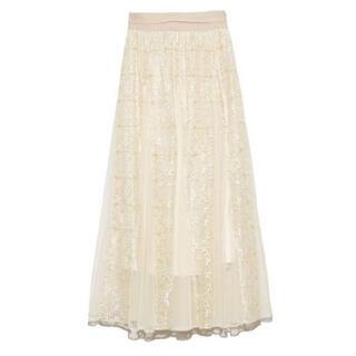 Lily Brown - リリーブラウン レーススカート ホワイト