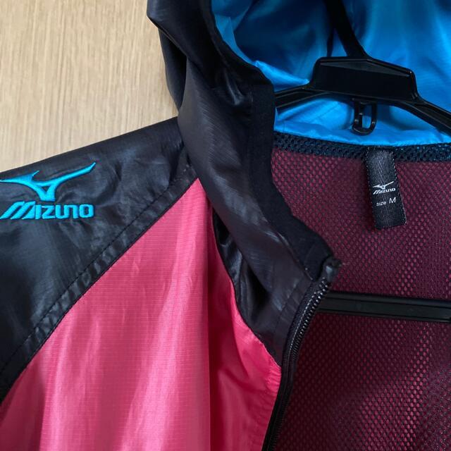 MIZUNO(ミズノ)の値下げ【美品】ミズノウィンドブレーカー M スポーツ/アウトドアのトレーニング/エクササイズ(トレーニング用品)の商品写真