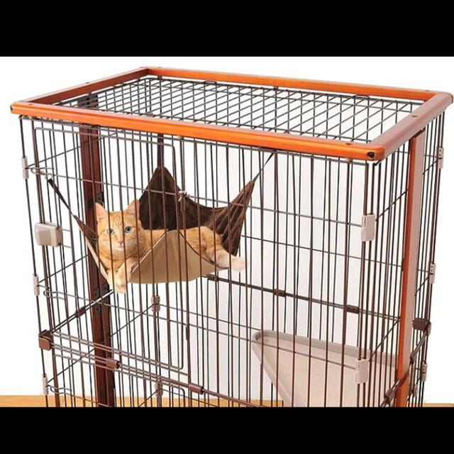 新品未使用 2段 ウッドワンサークル キャットケージ ペットケージ 猫ケージ その他のペット用品(かご/ケージ)の商品写真