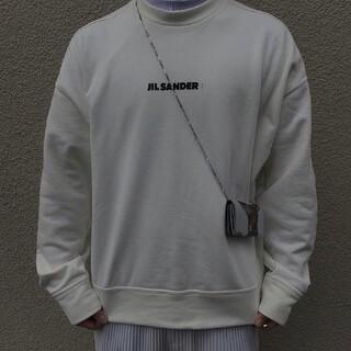 Jil Sander - Jil Sander 21ssアルファベットのロゴカバーの頭の衛衣古典的なプリン