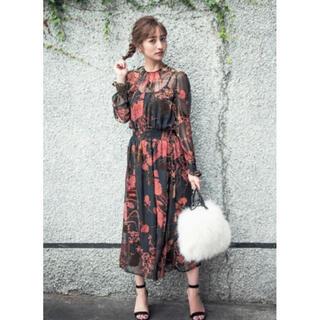ZARA - 【美品】ZARA◆ヴィンテージ花柄 ボタニカル ワンピース