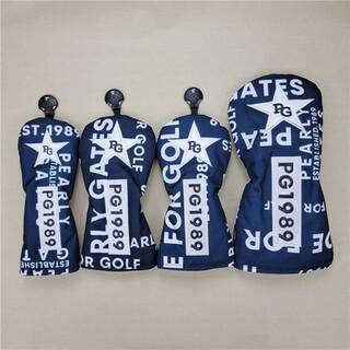 PEARLY GATES - 新品 パーリーゲイツ 4個セット ゴルフ ヘッドカバー  #002