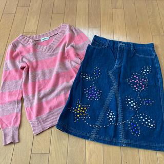 バツ(BA-TSU)のセーター スカート まとめ売り Mサイズ DGRACE   BA-TSU(ひざ丈スカート)