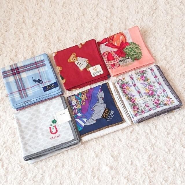 celine(セリーヌ)の《未使用》ブランドハンカチ 6枚セット レディースのファッション小物(ハンカチ)の商品写真