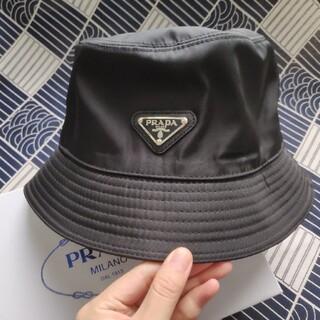 PRADA - お薦め♪プラダ ハット 帽子 黒 男女兼用