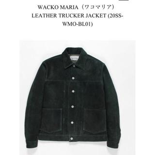WACKO MARIA - 美中古 ワコマリア LEATHER TRUCKER JACKET 20SS