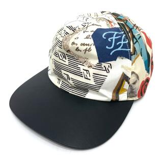 フェンディ(FENDI)のフェンディ FXQ768 総柄 FF柄 キャップ 帽子 マルチカラー(その他)