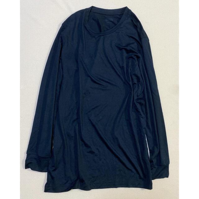UNIQLO(ユニクロ)のUNIQLO ヒートテック S ブラック メンズのトップス(Tシャツ/カットソー(七分/長袖))の商品写真