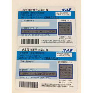 エーエヌエー(ゼンニッポンクウユ)(ANA(全日本空輸))のANA 株主優待券 2枚 迅速発送‼︎ (航空券)