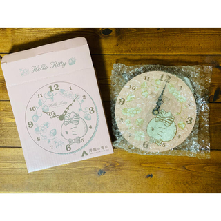 ハローキティ(ハローキティ)のキティちゃん 壁掛け時計 ⭐️非売品⭐️(掛時計/柱時計)