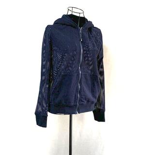 ダブルスタンダードクロージング(DOUBLE STANDARD CLOTHING)のダブルスタンダードクロージング メッシュパーカー ネイビー(パーカー)