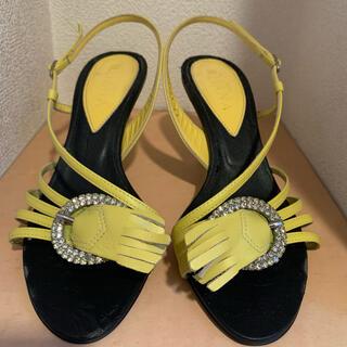 DIANA - DIANA ミュール  サンダル ハイヒール  黄色 秋 パンプス 靴
