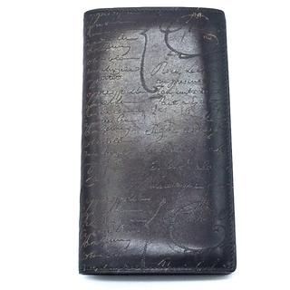 ベルルッティ(Berluti)のベルルッティ カリグラフィー エベネ 長財布 革小物 二つ折り財布 メンズ(折り財布)