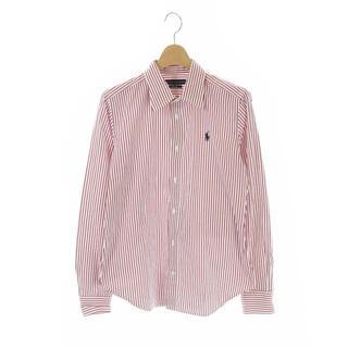 ラルフローレン(Ralph Lauren)のラルフローレン シャツ ワンポイント 長袖 ストライプ 10 赤 白 レッド(シャツ)