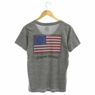 Chrome Hearts - クロムハーツ バックプリント VネックTシャツ カットソー 半袖 M グレー