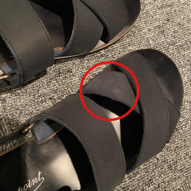Bonpoint(ボンポワン)の【Bonpoint】フラットサンダル ネイビー 37 レディースの靴/シューズ(サンダル)の商品写真