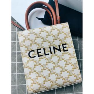 CELINE キャンバス & プリント入りカーフスキン