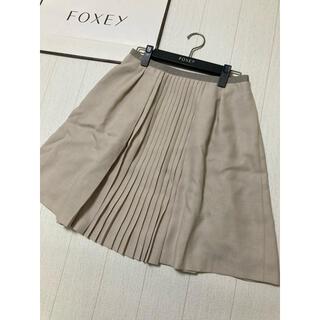 フォクシー(FOXEY)の美品 foxey new york プリーツ スカート フォクシー(ひざ丈スカート)