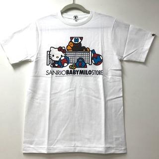 アベイシングエイプ(A BATHING APE)の未使用 アベイシングエイプ BAPE マイロ×キティ  サンリオコラボ Tシャツ(Tシャツ(半袖/袖なし))