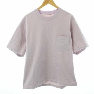 オーラリー Tシャツ カットソー 半袖 コットン 日本製 S 紫