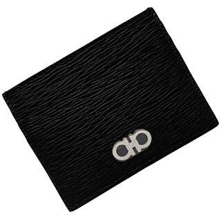 フェラガモ(Ferragamo)のフェラガモ カードケース ブラック レッド 未使用(名刺入れ/定期入れ)