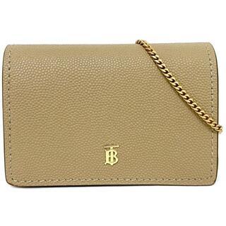 バーバリー(BURBERRY)のバーバリー 二つ折り 財布 チェーン ベージュ TB(財布)