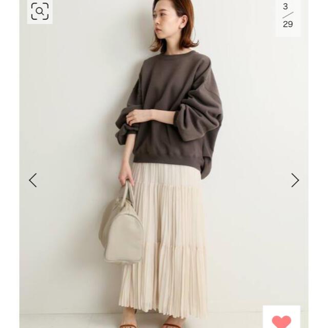 IENA(イエナ)の IENA ジョーゼットプリーツティアードスカート ナチュラル レディースのスカート(ロングスカート)の商品写真