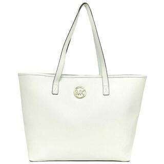 マイケルコース(Michael Kors)のマイケルコース トートバッグ ホワイト 美品 PVC(ハンドバッグ)