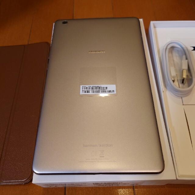 HUAWEI(ファーウェイ)のHUAWEI MediaPad M3 lite ガラスフィルム貼り付け済ケース付 スマホ/家電/カメラのPC/タブレット(タブレット)の商品写真