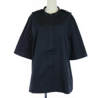 セオリー(theory)のセオリー 20AW SS ブラウス シャツ 半袖 M 黒(シャツ/ブラウス(半袖/袖なし))