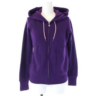 ミナペルホネン(mina perhonen)のミナペルホネン ジップアップパーカー 長袖 フード スウェット 38 M 紫(パーカー)