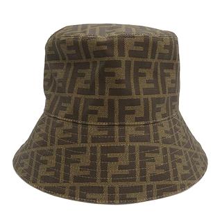 フェンディ(FENDI)のフェンディ  帽子  ズッカ バケットハット M   ブラウン M(その他)
