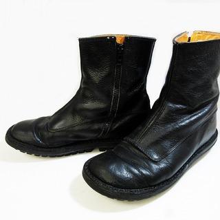 trippen - トリッペン サイドジップ ショートブーツ シューズ 靴 レザー ブラック 37