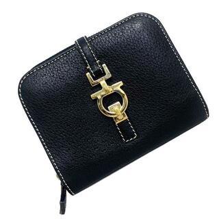 フェラガモ(Ferragamo)のフェラガモ 二つ折り 財布 ブラック ガンチーニ 黒(財布)