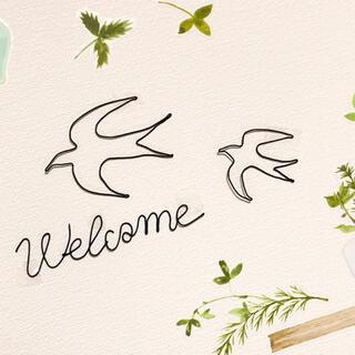 🕊welcome ワイヤーアート ワイヤークラフト 鳥(インテリア雑貨)