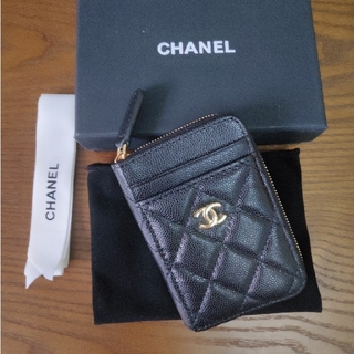 CHANEL - 素敵♥エレガント シャネル♪コインケース カード入れ 財布 黒
