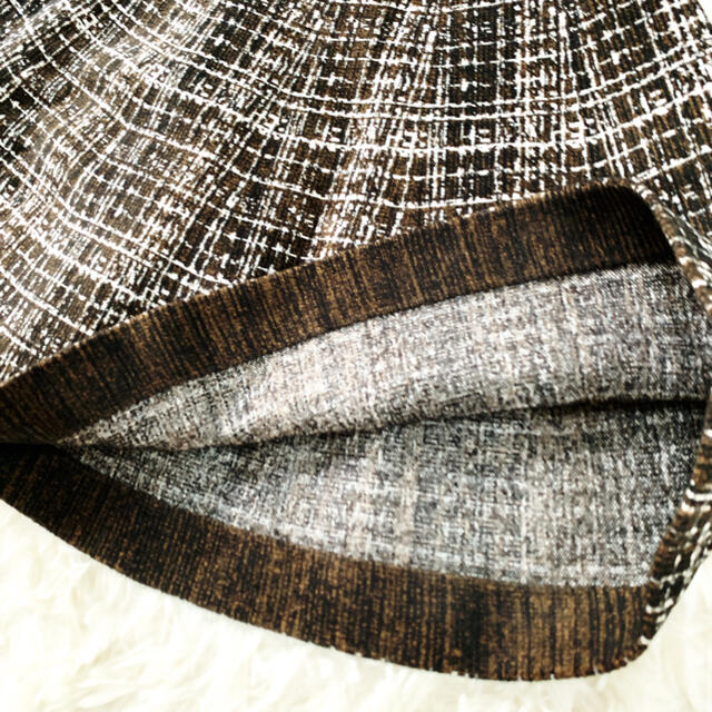 PRADA(プラダ)の極美品 PRADA プラダ ニット 刺繍 肉厚 フレアライン ワンピース ドレス レディースのワンピース(ひざ丈ワンピース)の商品写真