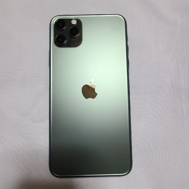 Apple(アップル)の【SIMフリー】iPhone11 Pro Max 64GB Green【中古品】 スマホ/家電/カメラのスマートフォン/携帯電話(スマートフォン本体)の商品写真