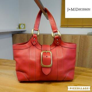 J&M DAVIDSON - J&M Davidson オールレザー ショルダーバッグ/トートバッグ レッド