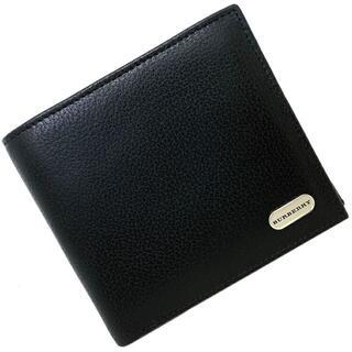 バーバリー(BURBERRY)のバーバリー 二つ折り 財布 ブラック コンパクト 黒(財布)